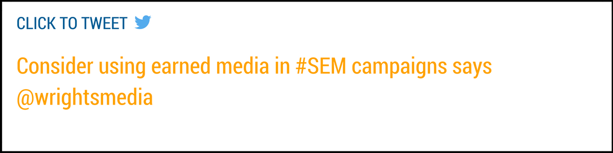 earned media in SEM